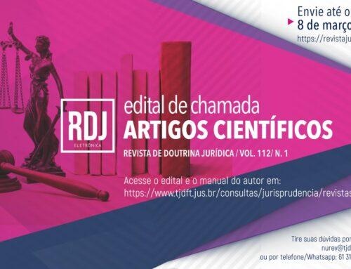TJDFT seleciona artigos para Revista de Doutrina Jurídica – RDJ